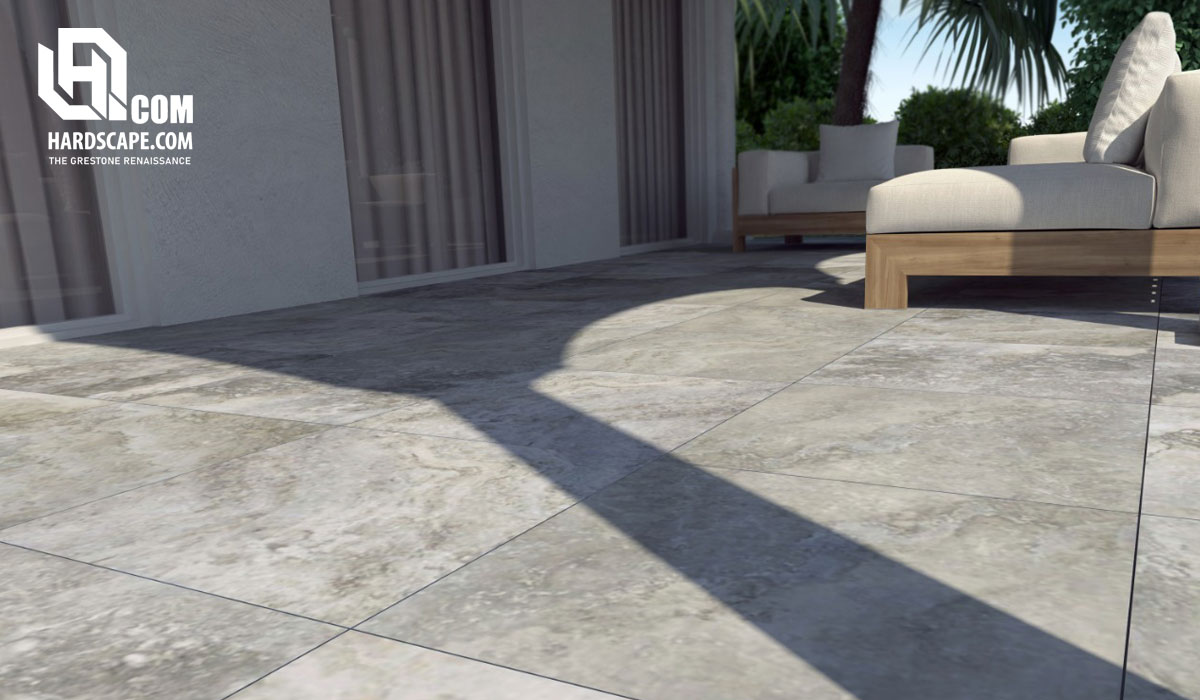 2cm Roma Travertine Porcelain Paver
