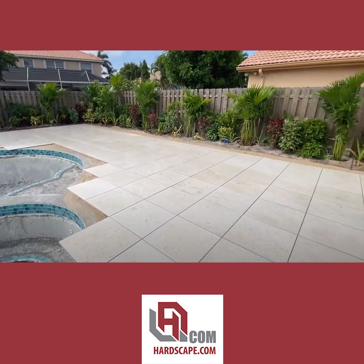 Shellstone Porcelain Pavers Installation