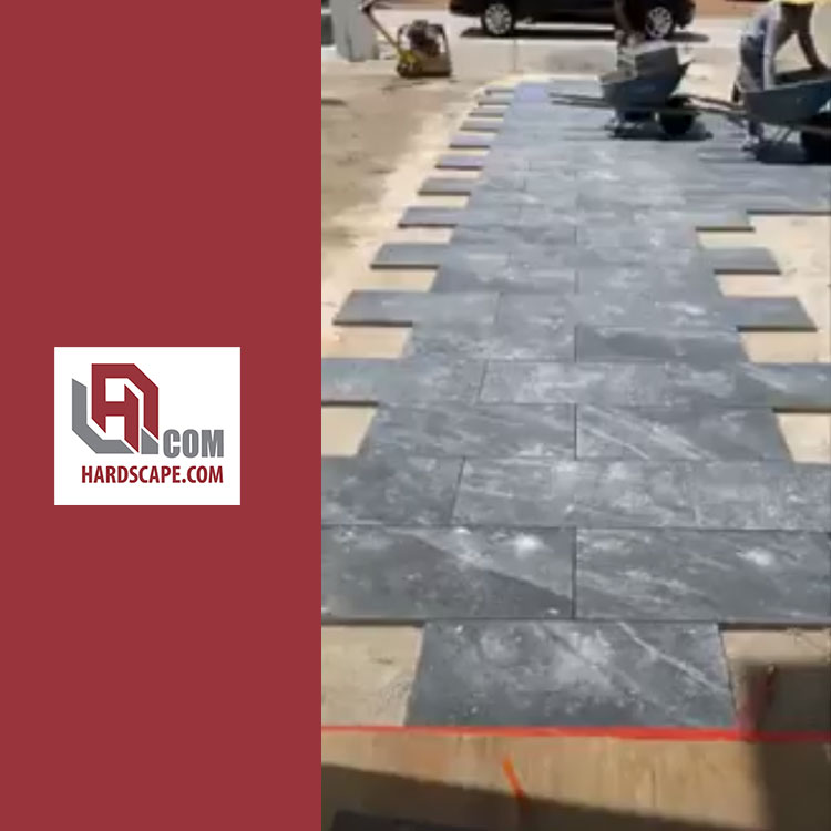 Dark SIlver Grey Porcelain Pavers for Driveways